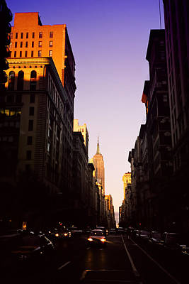 Empire State Building Photograph - Sun Kissed Empire by Joann Vitali