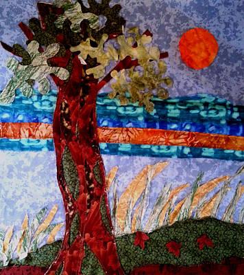 Tapestries Textiles Tapestry - Textile - Sun Over Arbutus Work In Progress by Nikki Dalton