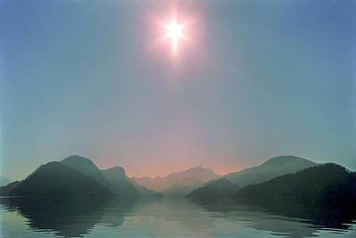 Sun Over Viner Sound Print by Geoffrey Ferguson