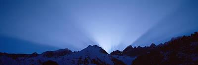 Radiates Photograph - Sun Rays, Canton Glarus, Switzerland by Panoramic Images