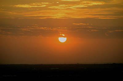 Sun Set Over Sa Print by Shawn Marlow