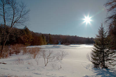Adirondack Photograph - Sun Setting On The Moose River - Old Forge New York by David Patterson