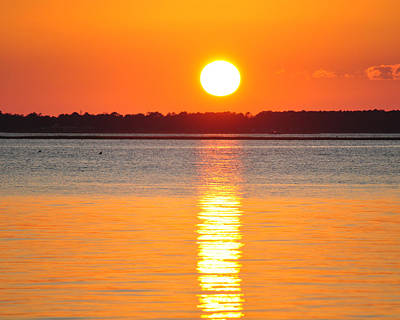 Sun Setting Over Beaufort Print by James Lewis
