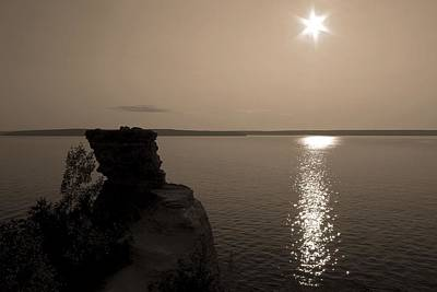 Sun Star On Lake Superior Print by Dan Sproul