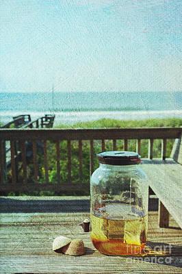 Sun Tea At The Beach Print by Kay Pickens