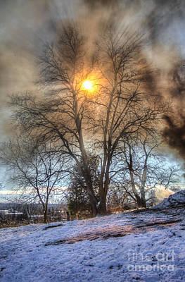 Sun Thru Smoke Print by Andrew Slater
