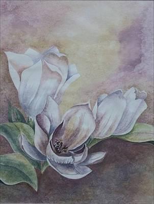 Sun Tulips Print by Jayne Morgan