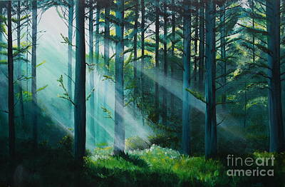 Sun Rays Painting - Sunbeams by Merrin Jeff