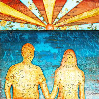 Beach Mixed Media - Sunburst In Love by Danny Phillips