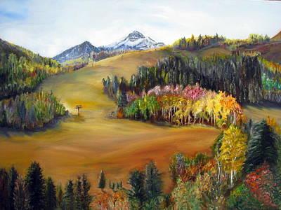 Sundance Painting - Sundance And Mt. Timpanogos by LaVonne Hand