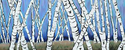 Sundance Painting - Sundance Aspen Grove by RK Hammock