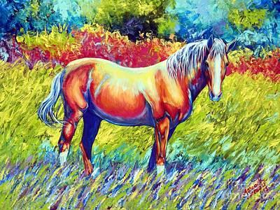 Sundance Painting - Sundance In The Meadow by Amanda Hukill