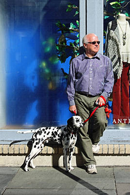 Dog Walking Digital Art - Sunday Afternoon On King Street by Suzanne Gaff