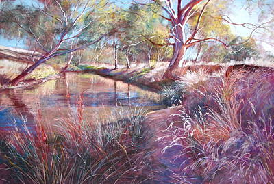 Sunday Creek At Dochery's Road Print by Lynda Robinson
