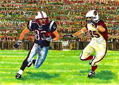 Action Painting - Sunday Football  by Mario Perez