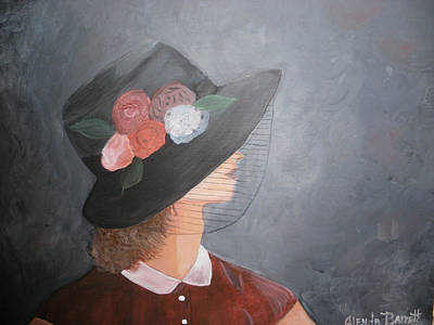 Sunday Hat Print by Glenda Barrett