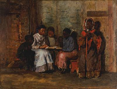 Slavery Photograph - Sunday Morning In Virginia, 1877 Oil On Canvas by Winslow Homer