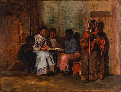 Black History Painting - Sunday Morning In Virginia by Philip Ralley
