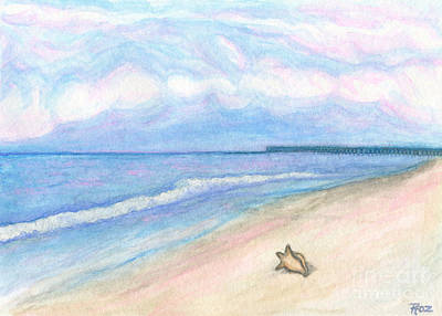 Palm Sunday Painting - Sunday Morning On Flagler Beach by Roz Abellera Art