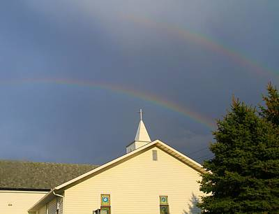 After The Storm Photograph - Sunday Rainbow At Church by Dan Sproul