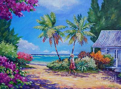 Caribbean Painting - Sunday Stroll by John Clark