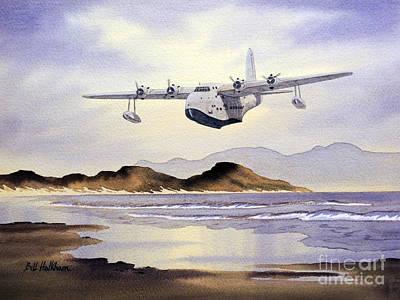 Raf Painting - Sunderland Over Scotland by Bill Holkham