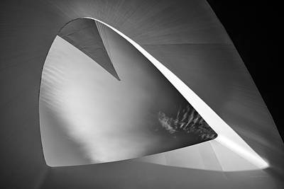 Sundial Photograph - Sundial Bridge Bw 1 by Leland D Howard