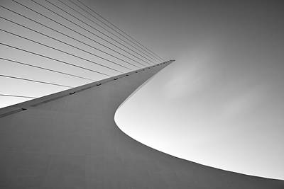 Sundial Photograph - Sundial Bridge Bw 6 by Leland D Howard