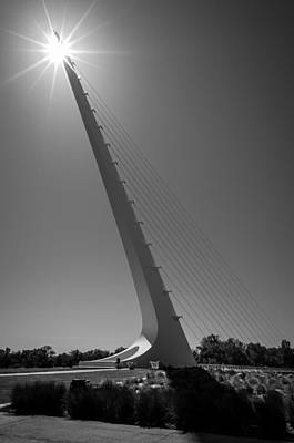 Sundial Photograph - Sundial Bridge Sunburst by Scott McGuire