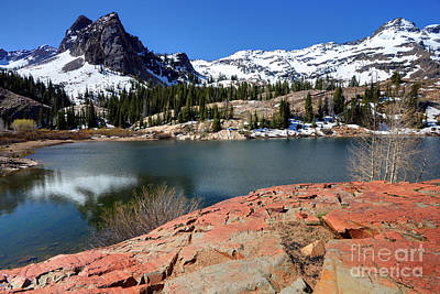 Blanche Photograph - Sundial Peak And Lake Blanche In Spring by Gary Whitton