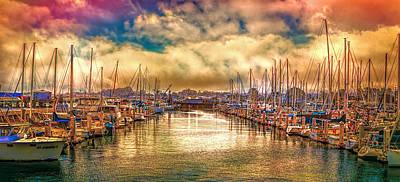 Oldzero Photograph - Sundown At The Marina by Steve Benefiel