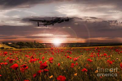 Poppies Digital Art - Sundown by J Biggadike