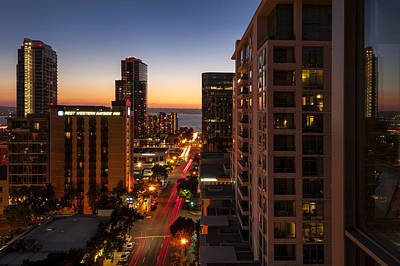 Arial View Photograph - Sundown On So-cal by Anthony Citro