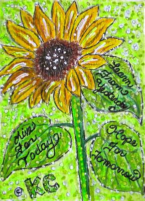 Sunflower Advice Print by Kathy Marrs Chandler