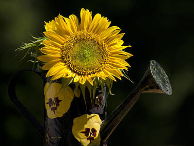 Sunflower Bouquet Print by Christina Rollo