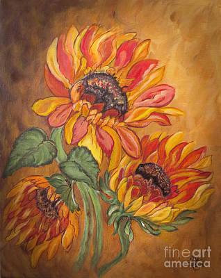Sunflowers Drawing - Sunflower Enchantment by Ella Kaye Dickey