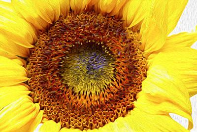 Summertime Digital Art - Sunflower Love by Les Cunliffe