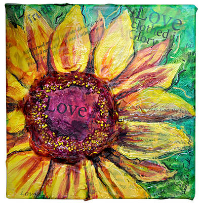 Sunflower Love  Print by Lisa Fiedler Jaworski