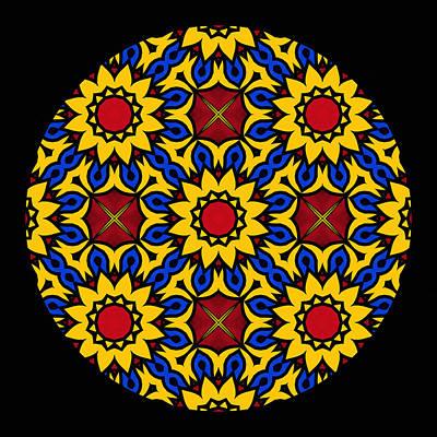 Sunflower Mandala Print by Georgiana Romanovna