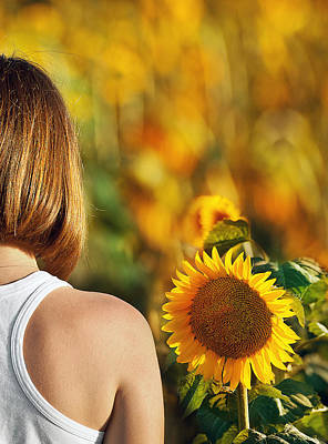 Sunflower Print by Nur TANRIOVEN