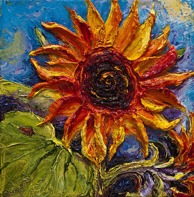 Sunflower Print by Paris Wyatt Llanso