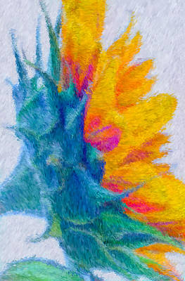 Impressionism Photograph - Sunflower Profile Impressionism by Heidi Smith