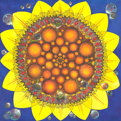 Sphere Painting - Sunflower Tangle by Catherine G McElroy