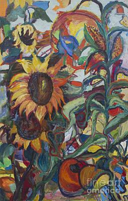 Sunflowers Print by Avonelle Kelsey
