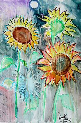 Painting - Sunflowers Calm  by Jon Baldwin  Art