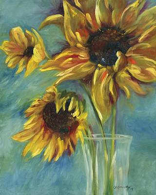 Creative Wall Designs Painting - Sunflowers by Chris Brandley