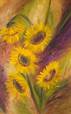 Painting - Sunflowers II by John and Lisa Strazza