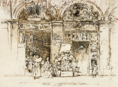 Sunflowers Drawing - Sunflowers by James Abbott McNeill Whistler