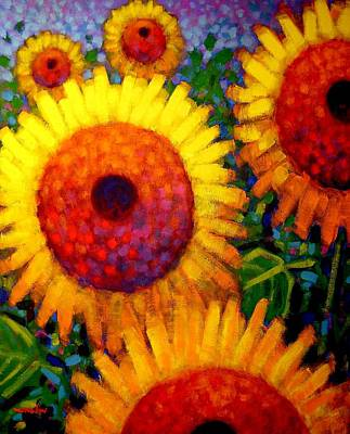 Sunflowers Original by John  Nolan