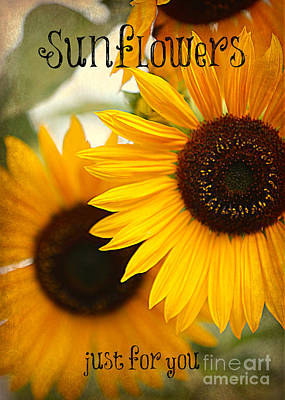 Sunflowers Photograph - Sunflowers Just For You by Carol Groenen